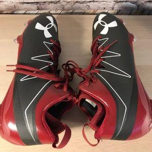Under Armour Shoes - Under Armour UA Nitro Mid D Sz 14 Football Cleats